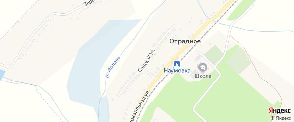Садовая улица на карте Отрадного села с номерами домов