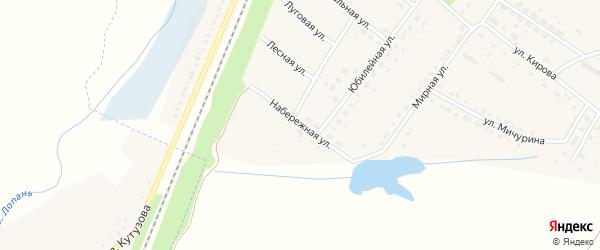 Набережная улица на карте поселка Малиновки с номерами домов