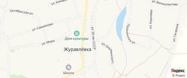 Улица 50 лет СССР на карте села Журавлевки с номерами домов