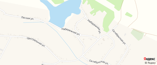 Набережная улица на карте села Красного Октября с номерами домов