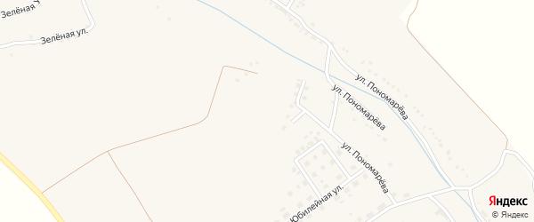 Зеленая улица на карте села Красного Октября с номерами домов