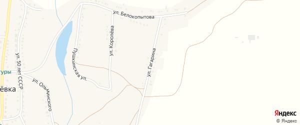 Улица Гагарина на карте села Журавлевки с номерами домов