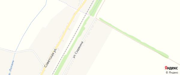Улица Сидякина на карте Отрадного села с номерами домов