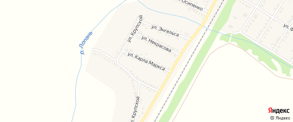 Улица Карла Маркса на карте Октябрьского поселка с номерами домов