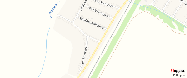 Улица Куйбышева на карте Октябрьского поселка с номерами домов