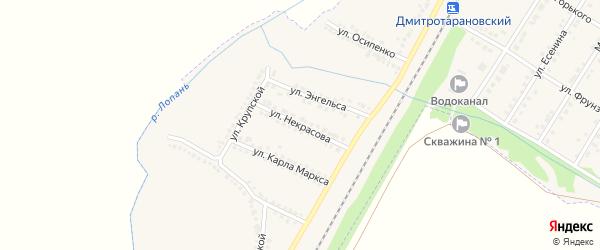 Улица Некрасова на карте Октябрьского поселка с номерами домов
