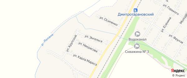 Улица Энгельса на карте Октябрьского поселка с номерами домов