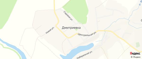 Карта села Дмитриевки в Белгородской области с улицами и номерами домов