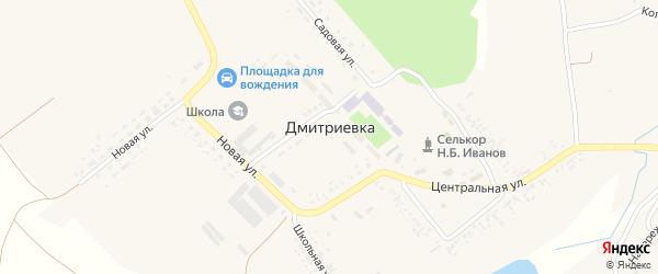 Улица Гагарина на карте села Дмитриевки с номерами домов