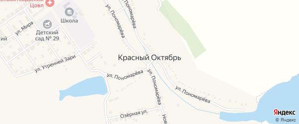 Школьная улица на карте села Красного Октября с номерами домов