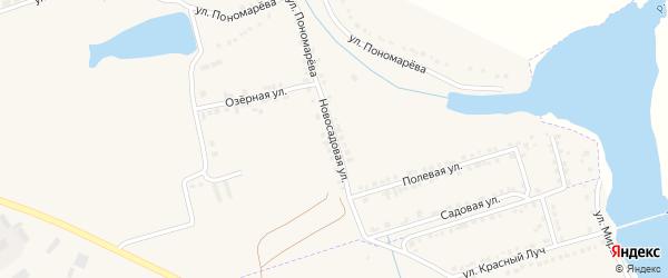 Новая Садовая улица на карте села Красного Октября с номерами домов