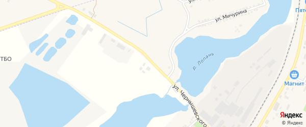 Улица Чернышевского на карте Октябрьского поселка с номерами домов