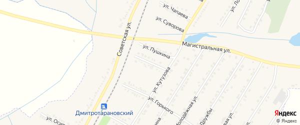 Улица Коминтерна на карте Октябрьского поселка с номерами домов