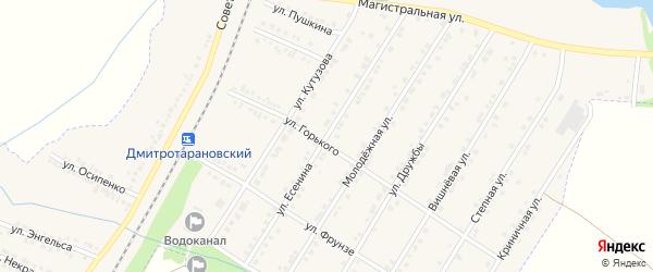 Улица Есенина на карте Октябрьского поселка с номерами домов