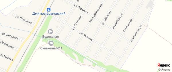 Улица Фрунзе на карте Октябрьского поселка с номерами домов