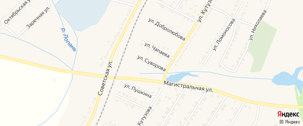 Улица Суворова на карте Октябрьского поселка с номерами домов