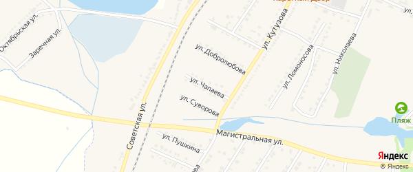 Улица Чапаева на карте Октябрьского поселка с номерами домов