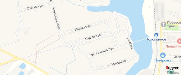Садовая улица на карте села Красного Октября с номерами домов
