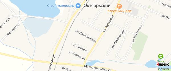 Улица Добролюбова на карте Октябрьского поселка с номерами домов