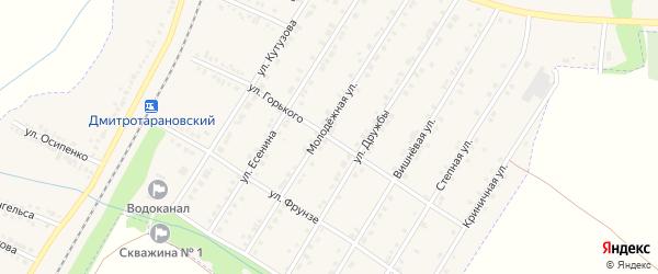 Улица Горького на карте Октябрьского поселка с номерами домов