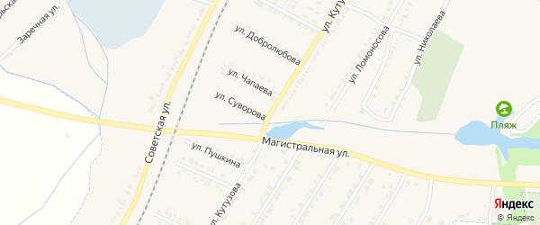 Улица Кутузова на карте Октябрьского поселка с номерами домов