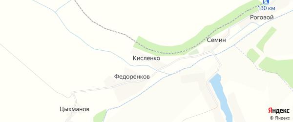 Карта хутора Кисленко в Белгородской области с улицами и номерами домов