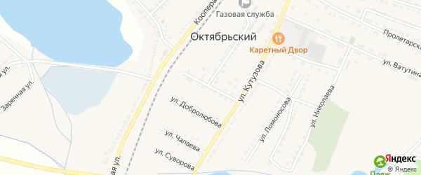 Первомайская улица на карте Октябрьского поселка с номерами домов
