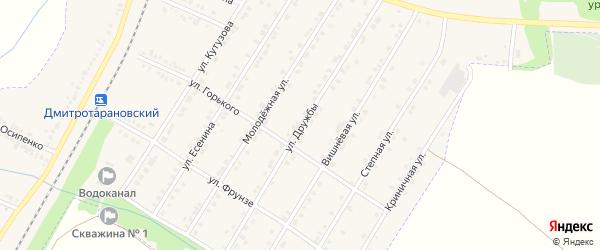 Улица Дружбы на карте Октябрьского поселка с номерами домов