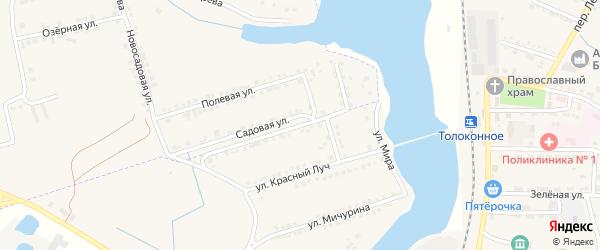Улица Мира на карте села Красного Октября с номерами домов