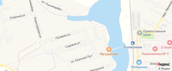 Полевой переулок на карте села Красного Октября с номерами домов