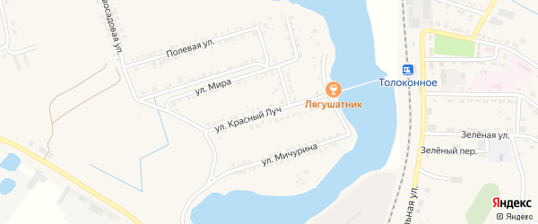 Улица Красный Луч на карте Октябрьского поселка с номерами домов