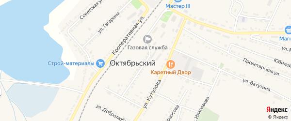 Улица Свердлова на карте Октябрьского поселка с номерами домов