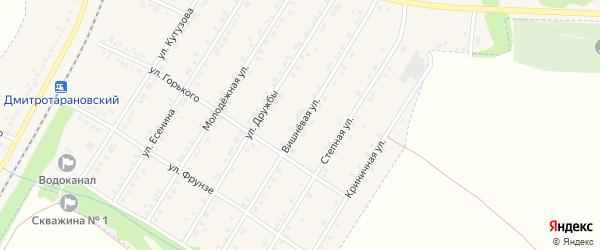 Вишневая улица на карте Октябрьского поселка с номерами домов