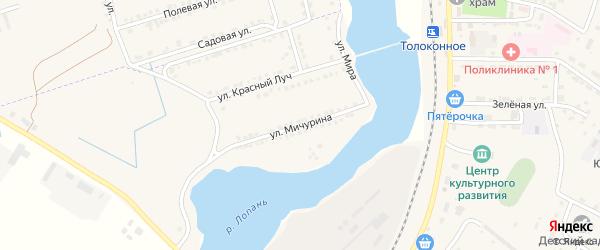 Улица Мичурина на карте Октябрьского поселка с номерами домов