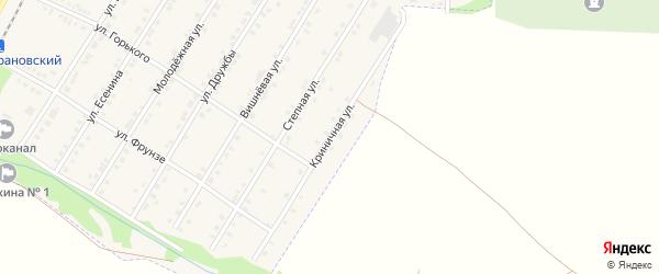 Криничная улица на карте Октябрьского поселка с номерами домов