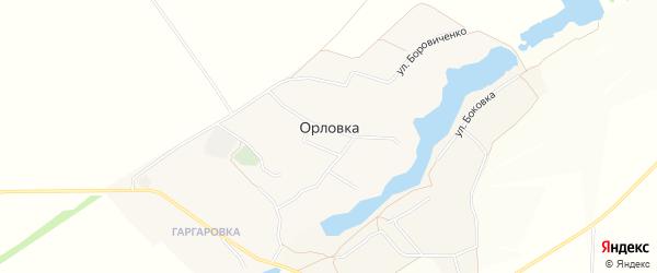 Карта села Орловки в Белгородской области с улицами и номерами домов