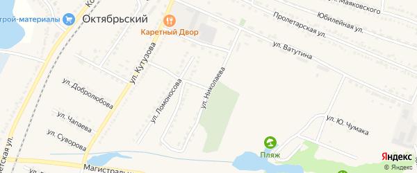 Улица Николаева на карте Октябрьского поселка с номерами домов