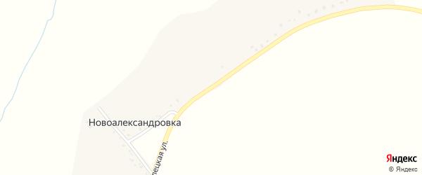 Стрелецкая улица на карте хутора Новоалександровки с номерами домов