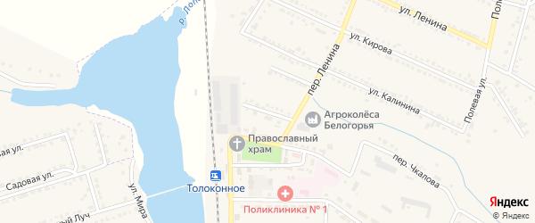 Комсомольский переулок на карте Октябрьского поселка с номерами домов