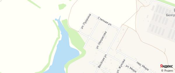 Улица Пушкина на карте села Веселой Лопани с номерами домов