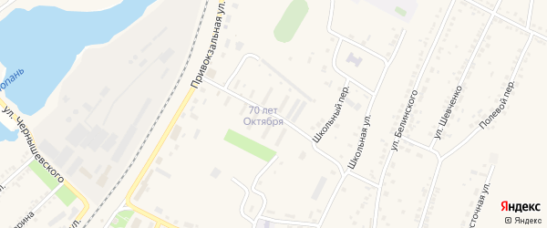 Улица 70 лет Октября на карте Октябрьского поселка с номерами домов