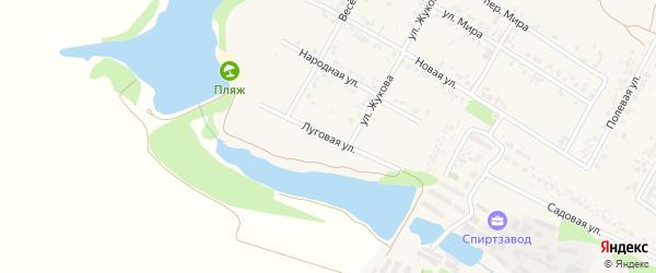 Луговая улица на карте села Веселой Лопани с номерами домов