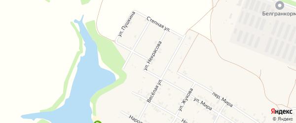 Улица Некрасова на карте села Веселой Лопани с номерами домов