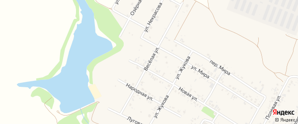 Веселая улица на карте села Веселой Лопани с номерами домов