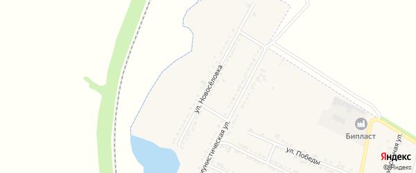 Улица Новоселовка на карте Октябрьского поселка с номерами домов