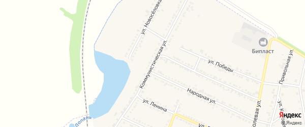 Коммунистическая улица на карте Октябрьского поселка с номерами домов