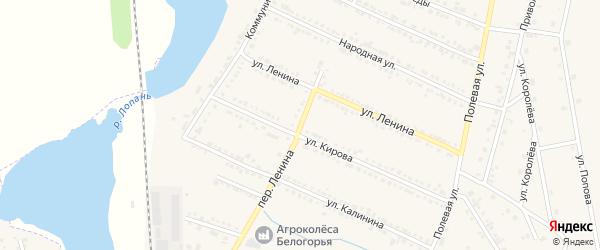 Переулок Ленина на карте Октябрьского поселка с номерами домов