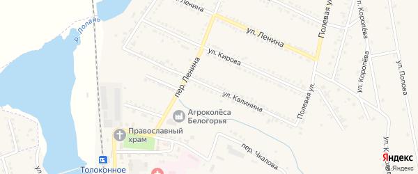 Улица Калинина на карте Октябрьского поселка с номерами домов