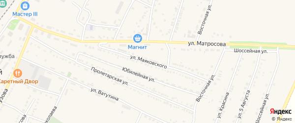 Улица Маяковского на карте Октябрьского поселка с номерами домов