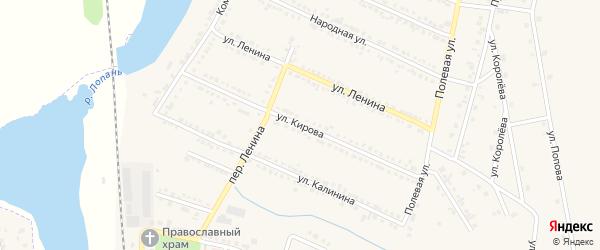 Улица Кирова на карте Октябрьского поселка с номерами домов